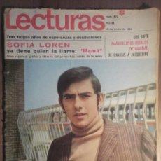Revistas de música: LECTURAS 10/1/1969 . SERRAT. Lote 160679658