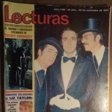 Revistas de música: LECTURAS 29/11/1974. SERRAT. Lote 160680098