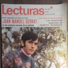 Revistas de música: LECTURAS 19/7/1968 . SERRAT. Lote 160680686