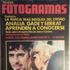 Revistas de música: NUEVO FOTOGRAMAS 29/9/1972 SERRAT . Lote 160681046