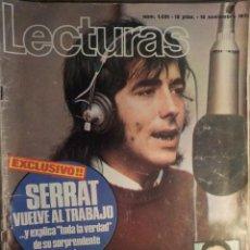 Revistas de música: LECTURAS 12/11/1971 SERRAT. Lote 160681382