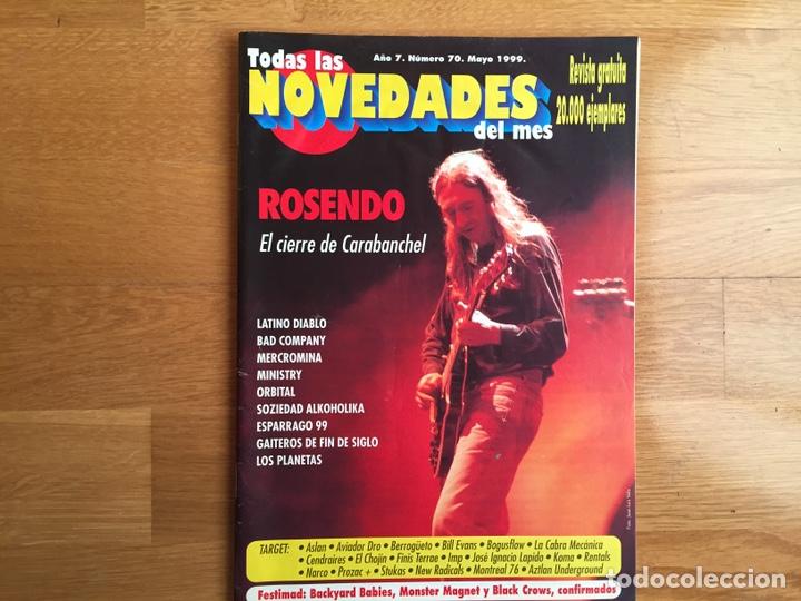 TODAS LAS NOVEDADES DEL MES #70. MAYO 1999: ROSENDO, MERCROMINA, MINISTRY, ORBITAL, LOS PLANETAS... (Música - Revistas, Manuales y Cursos)