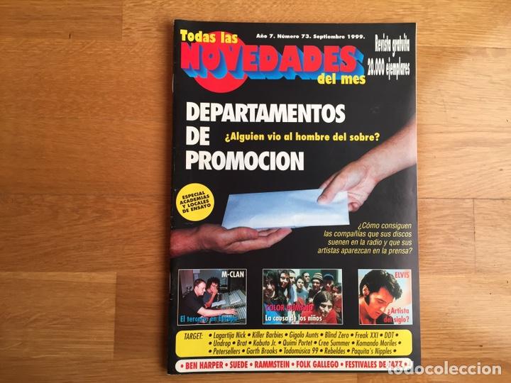 TODAS LAS NOVEDADES DEL MES #73. SEP 1999; M-CLAN, BEN HARPER, SUEDE, RAMMSTEIN, ELVIS ... (Música - Revistas, Manuales y Cursos)