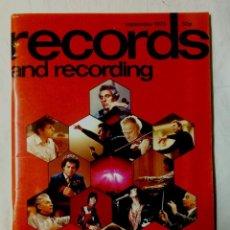 Revistas de música: RECORDS AND RECORDINGS SEPTEMBER 1973 LONDON . Lote 161298850