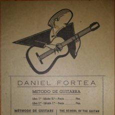 Revistas de música: MÉTODO DE GUITARRA DANIEL FONTEA 1958. Lote 162265314