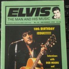 Revistas de música: ELVIS THE MAN AND HIS MUSIC Nº 48 - 1998 - UK. Lote 162945850
