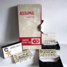 Revistas de música: ASSIMIL ESTUCHE Y TRES CASSETTES CASETES ENGLISH WITHOUT TOIL CURSO INGLÉS COMPLETO. Lote 163340942