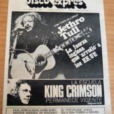 Revistas de música: DISCO EXPRES - JETHRO TULL. KING CRIMSON - NUM. 197 - AÑO 1972 - MUY BUEN ESTADO. Lote 166029090