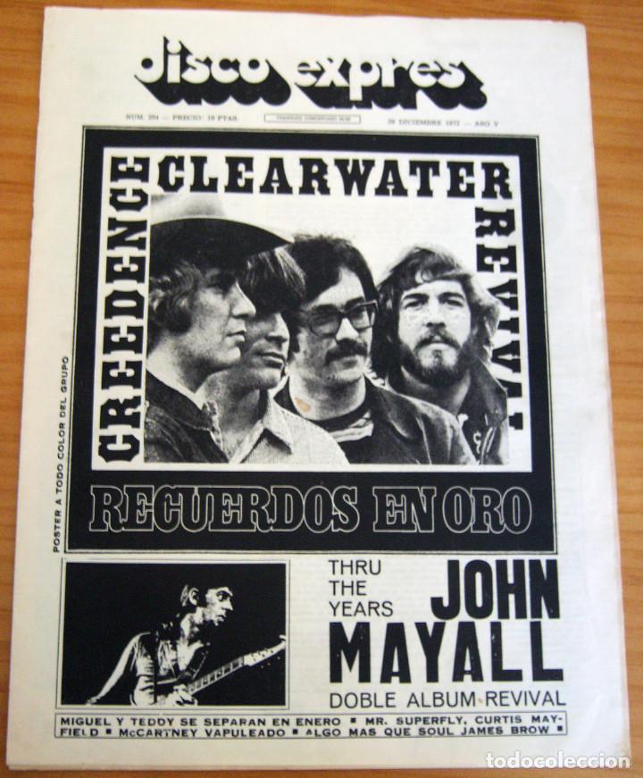 DISCO EXPRES - JOHN MAYALL - NUM. 204 - AÑO 1972 - MUY BUEN ESTADO (Música - Revistas, Manuales y Cursos)