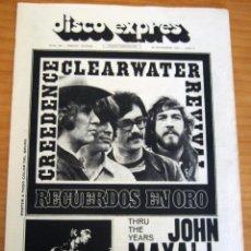 Revistas de música: DISCO EXPRES - JOHN MAYALL - NUM. 204 - AÑO 1972 - MUY BUEN ESTADO. Lote 166036950