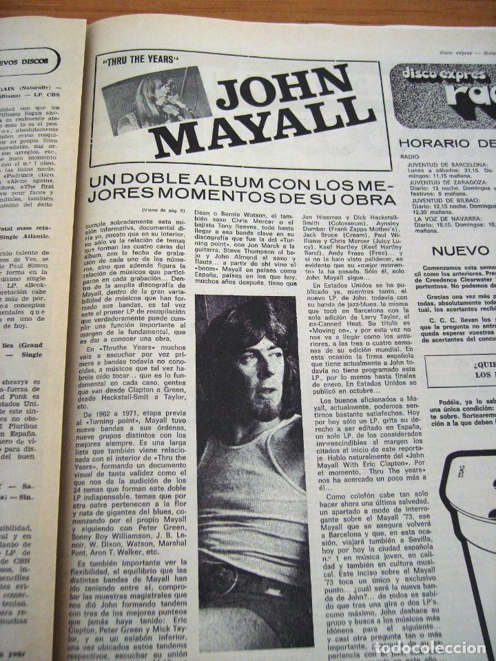 Revistas de música: DISCO EXPRES - JOHN MAYALL - NUM. 204 - AÑO 1972 - MUY BUEN ESTADO - Foto 5 - 166036950