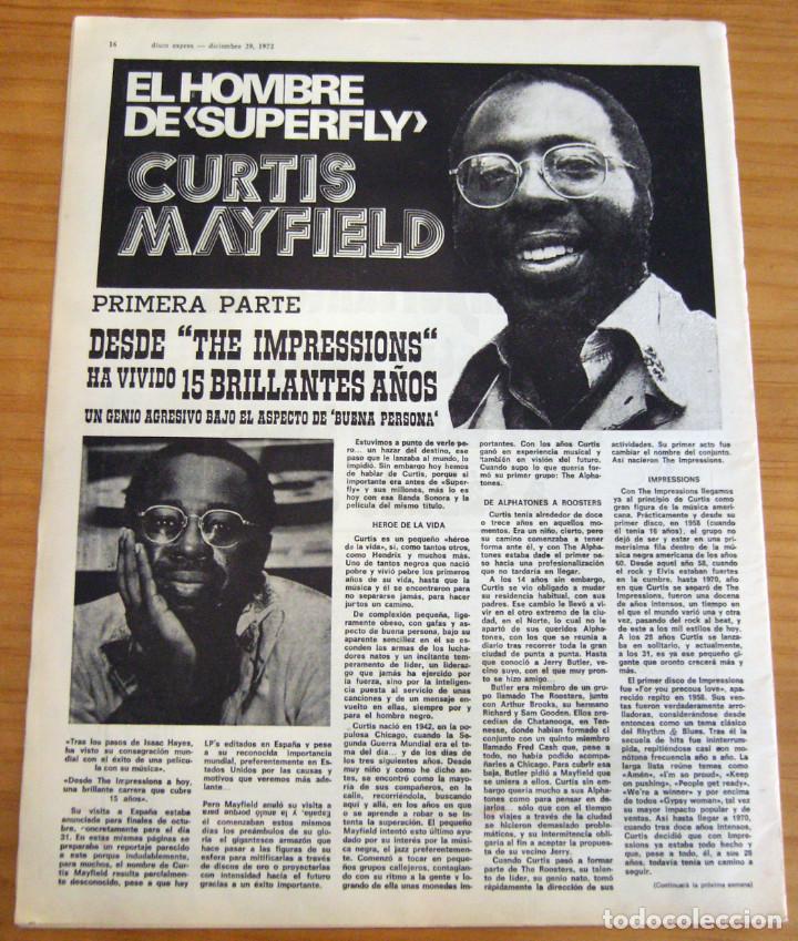 Revistas de música: DISCO EXPRES - JOHN MAYALL - NUM. 204 - AÑO 1972 - MUY BUEN ESTADO - Foto 7 - 166036950