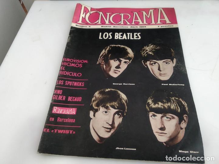 ANTIGUA REVISTA ORIGINAL FONORAMA Nº 6 BEATLES (Música - Revistas, Manuales y Cursos)