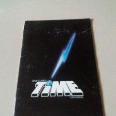 Revistas de música: PROGRAMA. OBRA DE TEATRO MUSICAL, TIME THE MUSICAL DE DAVE CLARK, 1986. Lote 166134518