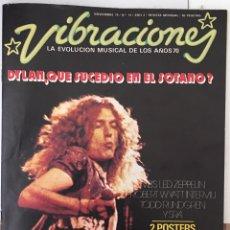 Revistas de música: REVISTA VIBRACIONES NOVIEMBRE 1975 BOB DYLAN LES ZEPPELIN (SIN POSTERS). Lote 166610904