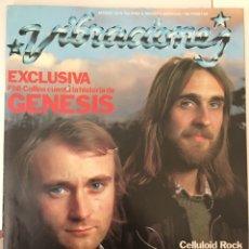 Revistas de música: REVISTA VIBRACIONES MARZO 1978 N. 42 GÉNESIS, RAMONCIN (SIN POSTERS). Lote 166611160