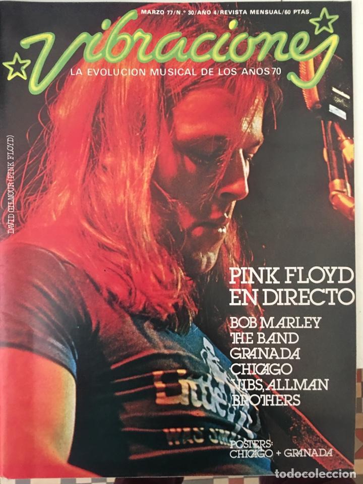 REVISTA VIBRACIONES MARZO 1977 N. 30 PINK FLOYD, BOB MARLEY (SIN POSTERS) (Música - Revistas, Manuales y Cursos)