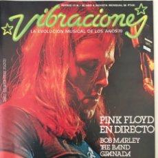 Revistas de música: REVISTA VIBRACIONES MARZO 1977 N. 30 PINK FLOYD, BOB MARLEY (SIN POSTERS). Lote 166611334