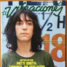 Revistas de música: REVISTA VIBRACIONES (SIN POSTERS) N. 26 OCTUBRE 1976 PATTI SMITH, DR FEELGOOD.... Lote 166622360