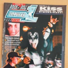 Revistas de música: POPULAR 1 NUM 302 BLACK CROWES, KISS, BACKYARD BABIES, GLUECIFER, CHIRS ISAAK, RON WOOD, LOQUILLO. Lote 168562572