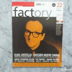 Revistas de música: FACTORY 22 1999. ELVIS COSTELLO. THE TRIFFIDS, KRANKY RECORDS, BIS, FRANK BLACK. Lote 169109044