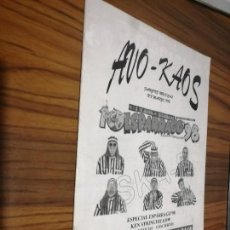 Revistas de música: AVO-KAOS 8. REVISTA DE MÚSICA. GRAPA. BUEN ESTADO. GRANADA. RARÍSIMA. Lote 169139980