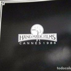Riviste di musica: BEATLES GEORGE HARRISON PRODUCTOR HANDMADE FILMS CANNES CATALOGO PRENSA 1986 ORIGINAL RARO EXCELENTE. Lote 169298032