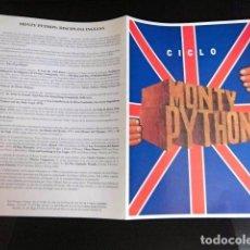 Revistas de música: BEATLES GEORGE HARRISON CATALOGO PELICULAS CICLO CINE MONTY PHYTON ORIGINAL EXCELENTE. Lote 169298156