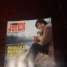 Revistas de música: REVISTA MUNDO JOVEN Nº 11 - MIGUEL RIOS , APRENDIENDO A VIVIR FORMULA V - - POSTER DE MIGUEL RIOS -. Lote 169787940