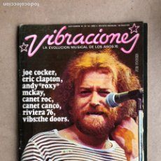 Revistas de música: VIBRACIONES N° 24 (1976). FALTAN VIBS Y POSTERS. CANET ROC, CLAPTON, COBHAM,.... Lote 170225669