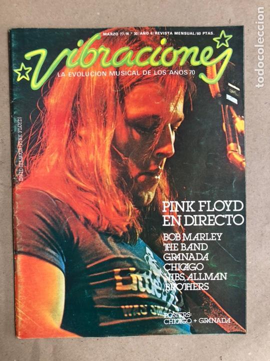 VIBRACIONES N° 30 (1977). FALTAN VIBS Y POSTERS. PINK FLOYD, BOB MARLEY, FLEETWOOD MAC (Música - Revistas, Manuales y Cursos)