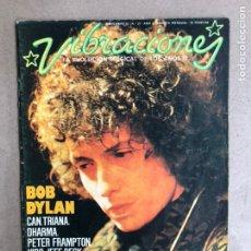 Revistas de música: VIBRACIONES N° 27 (1976). FALTAN VIBS Y POSTERS. BOB DYLAN, CAN, TRIANA, DHARMA,.... Lote 170230416