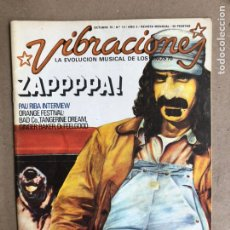 Revistas de música: VIBRACIONES N° 13 (1975). FALTAN VIBS Y POSTERS. BOB DYLAN, PAU RIBA, PETER GABRIEL, ORANGE TRIP. Lote 170230530