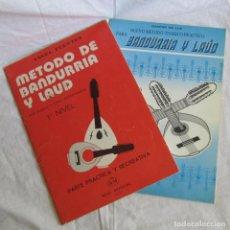 Revistas de música: DOS MÉTODOS PARA BANDURRIA Y LAUD, VER FOTOS ADICIONALES. Lote 170345264