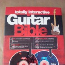 Revistas de música: GUITAR BIBLE-TOTALLY INTRACTIVE--1 DVD 1 CD-TUTOR BOOK-GUITAR FACTSBOOK . Lote 170505536