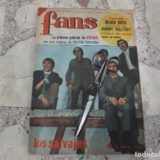 Revistas de música: FANS Nº 102, 1967 POSTER BEACH BOYS,LOS SALVAJES,ADAMO,JOHNNY HALLYDAY,. Lote 171403728