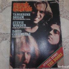Magazines de musique: MUSIK EXPRESS Nº 11 NOVIEMBRE 1976, SPECIAL THE DOORS, TANGERINE DREAM,STEVIE WONDER, DAVID COVERDAL. Lote 171413280
