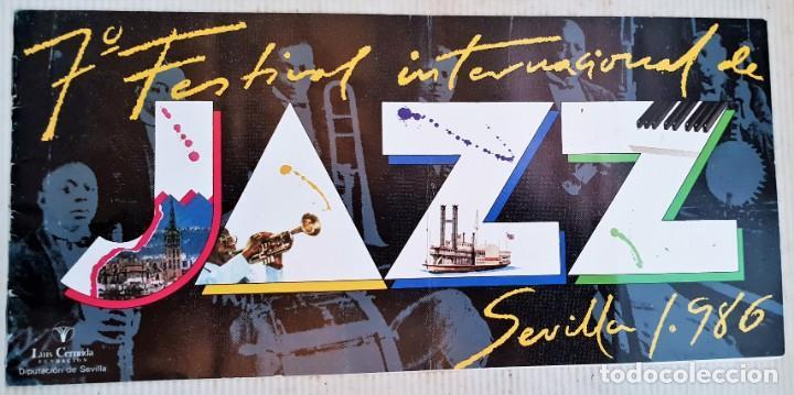 LIBRILLO PROGRAMA DEL FESTIVAL INTERNACIONAL DE JAZZ DE SEVILLA 1986 (Música - Revistas, Manuales y Cursos)
