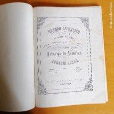 Magazines de musique: MÉTODO ANALÍTICO PARA EL ESTUDIO DEL SOLFEO… POR JOAQUIN LLADÓ . BARCELONA , JUAN BUDÓ 1860.. Lote 171498655
