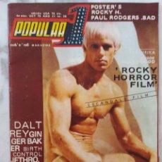 Revistas de música: POPULAR 1 Nº 28. OCTUBRE 75. ROCKY HORROR FILM, JETHRO TULL, JOHN CALE... REVISTA. Lote 172067309