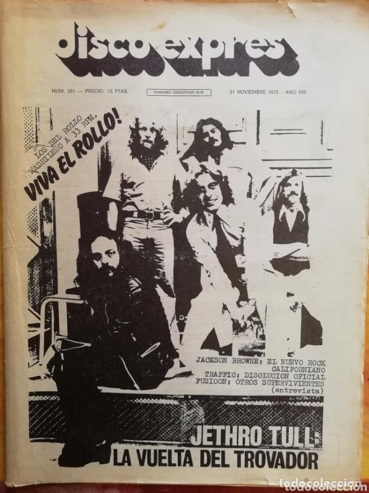 DISCO-EXPRES, N°351 1975 (Música - Revistas, Manuales y Cursos)