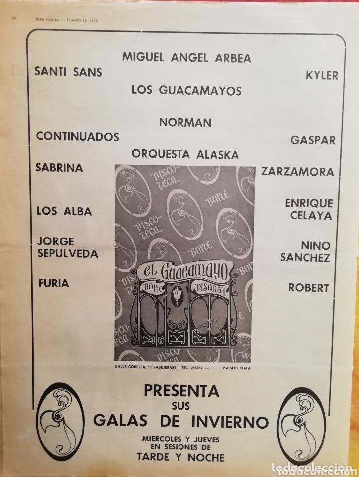 Revistas de música: DISCO-EXPRES, N°159 (1972) - Foto 2 - 172398448
