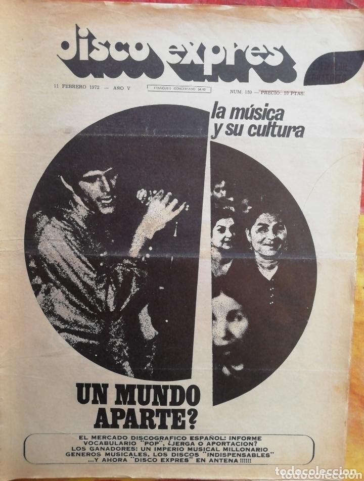 DISCO-EXPRES, N°159 (1972) (Música - Revistas, Manuales y Cursos)
