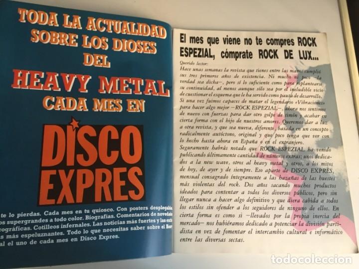 Revistas de música: REVISTA- ROCK ESPEZIAL Nº 38 (OCTUBRE 1984): LA DE LAS FOTOS VER TODAS MIS REVISTASDE MUSICA - Foto 2 - 172990322