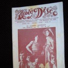 Revistas de música: AMIGOS DEL DISCO REVISTA ZONA VALENCIA AÑOS 70 ANUNCIOS ROLLING STONES LISTAS EXITOS DIABLOS. Lote 173061517