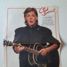 Revistas de música: PAUL MCCARTNEY- REVISTA CLUB SANDWICH Nº 52- VERANO 1989-THE BEATLES- EXC. ESTADO.. Lote 173185942