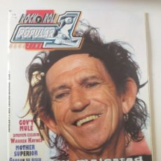 Revistas de música: POPULAR 1 - KEITH RICHARDS, MOTHER SUPERIOR, GWAR, MEGADETH, SCORPIONS, PARADISE LOST. Lote 173638853