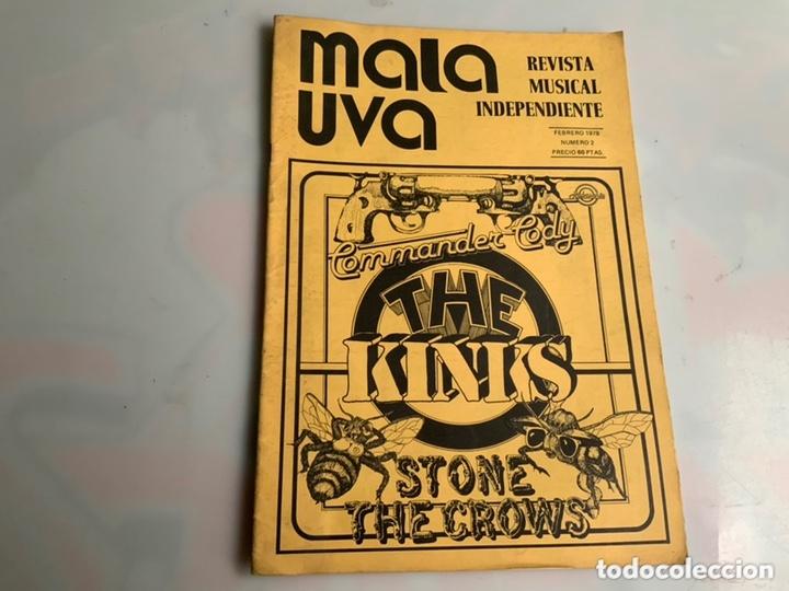 MALA UVA Nº 2 REVISTA MUSICAL INDEPENDIENTE (1978) COMMANDER CODY, THE KINKS (Música - Revistas, Manuales y Cursos)