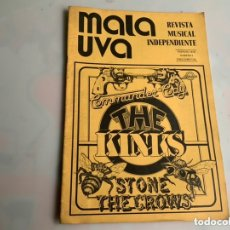 Revistas de música: MALA UVA Nº 2 REVISTA MUSICAL INDEPENDIENTE (1978) COMMANDER CODY, THE KINKS. Lote 173924435