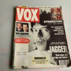 Revistas de música: VOX MUSIC MAGAZINE MARCH 1993 JAGGER SPRINGSTEEN THE CULT VIC REEVES LEMONHEADS. Lote 173925858